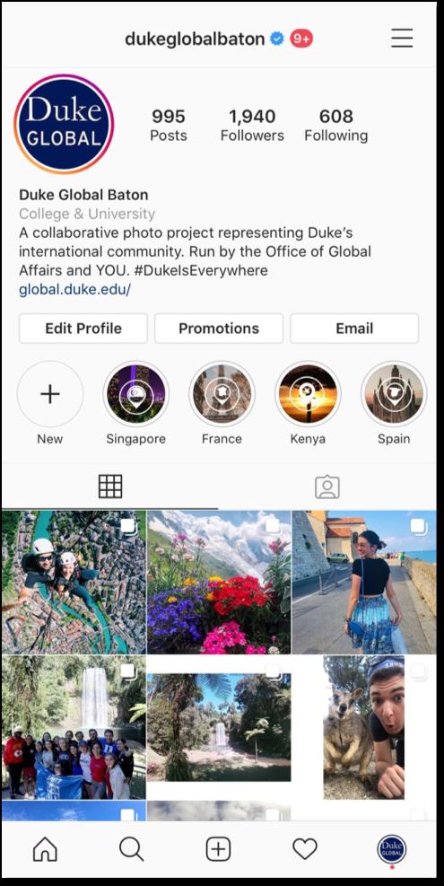 Screenshot of Global Baton homepage