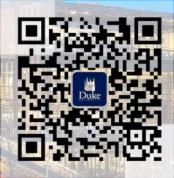Duke University QR code link to WeChat